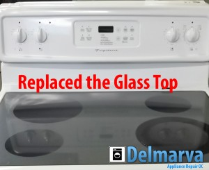 GE Glass top range replacement Ocean City job