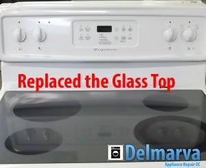 GE Glass top range replacement Ocean City job